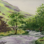 """""""Dovedale Stream"""" Watercolor Painting"""