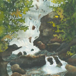 """""""Waterfall, Co. Kerry"""" Watercolor Painting"""