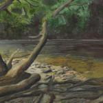 """Rainforest Pool, Maui"" Watercolor Painting"