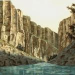 """""""Santa Elena Canyon"""" Watercolor Painting"""
