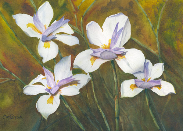 """African Lilies"" Watercolor Painting"