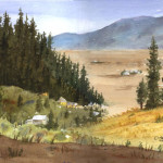 """""""Mountain Valley Study"""" Watercolor Painting"""