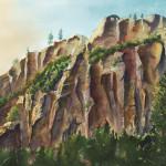 """Sedona Rocks"" Watercolor Painting"