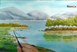 Online Watercolor Course Painting