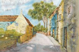 """Quiet Lane, Blakeney"" Watercolor Painting"