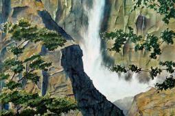"""""""Yosemite Falls"""" Watercolor Painting"""